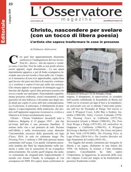 L'Osservatore Magazine June 06, 2020 00:00