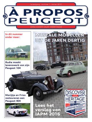 À Propos Peugeot Zomer 2016
