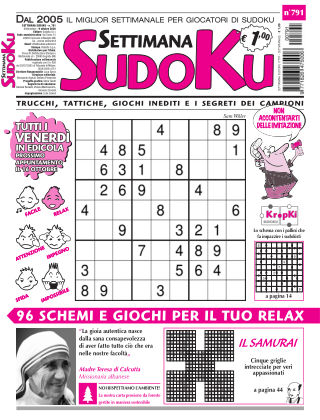 Settimana Sudoku 791
