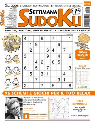 Settimana Sudoku 816