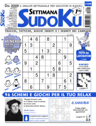 Settimana Sudoku 820