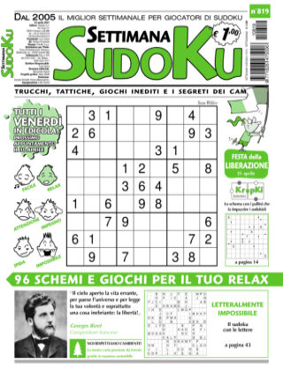 Settimana Sudoku 819