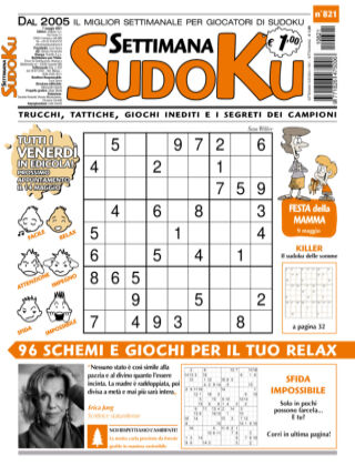 Settimana Sudoku 821