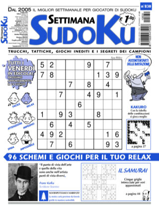 Settimana Sudoku 830