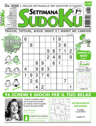 Settimana Sudoku 829