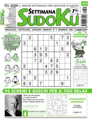Settimana Sudoku 834