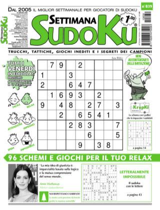 Settimana Sudoku 839