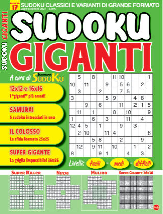 Sudoku Giganti 17