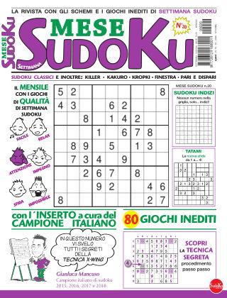 Settimana sudoku mese 20
