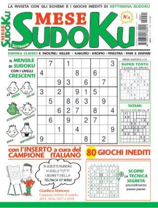 Settimana sudoku mese 21