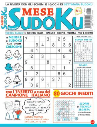 Settimana sudoku mese 22