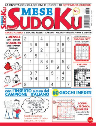 Settimana sudoku mese 23