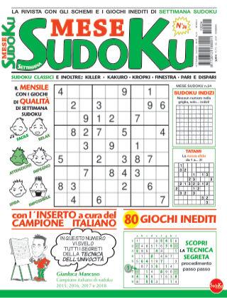 Settimana sudoku mese 24