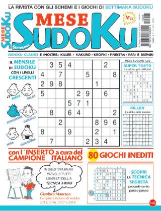 Settimana sudoku mese 25
