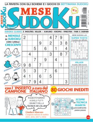 Settimana sudoku mese 28
