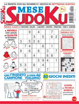 Settimana sudoku mese 29