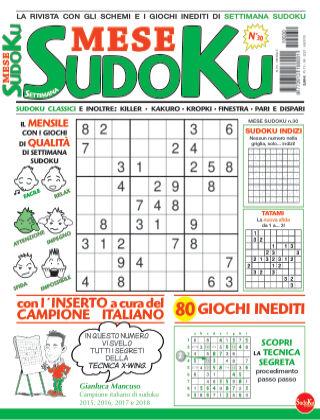 Settimana sudoku mese 30