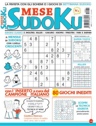 Settimana sudoku mese 31