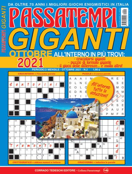 Passatempi Giganti September 15, 2021 00:00