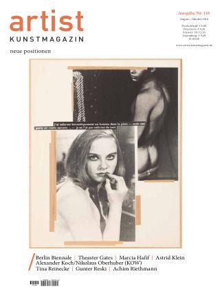 artist Kunstmagazin 116