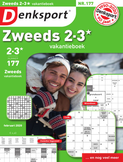 Denksport Zweeds 2-3* vakantieboek February 06, 2020 00:00