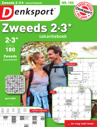 Denksport Zweeds 2-3* vakantieboek 180
