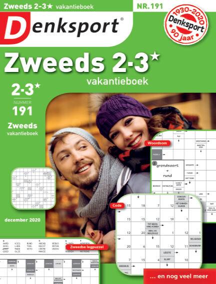Denksport Zweeds 2-3* vakantieboek November 26, 2020 00:00