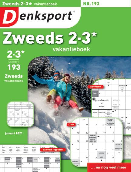 Denksport Zweeds 2-3* vakantieboek January 07, 2021 00:00