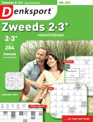 Denksport Zweeds 2-3* vakantieboek 204