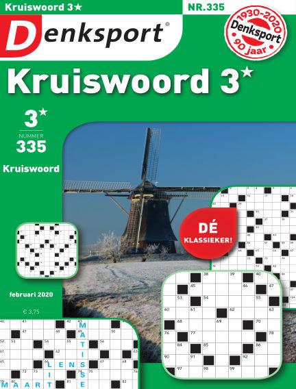 Denksport Kruiswoord 3* January 30, 2020 00:00