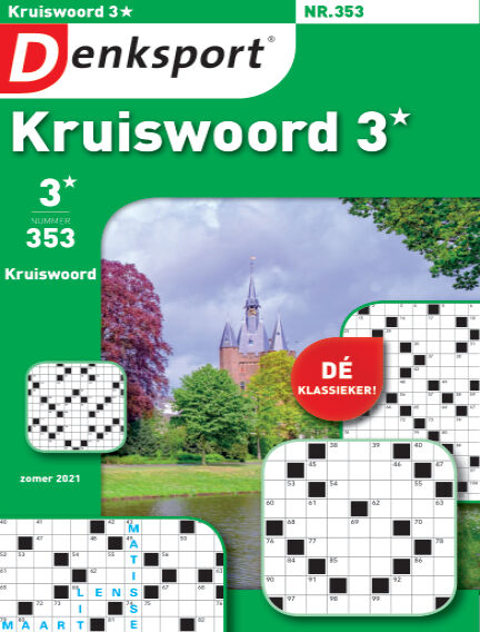 Denksport Kruiswoord 3* June 17, 2021 00:00