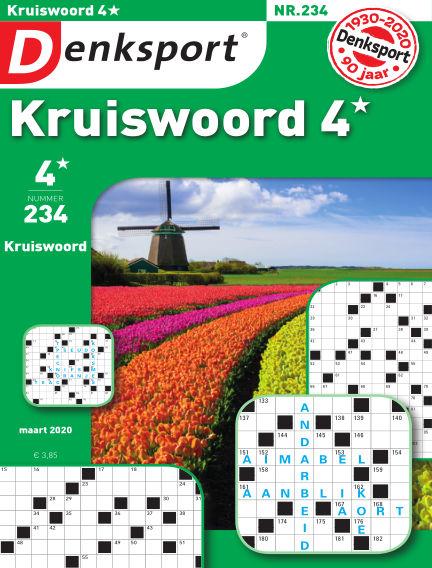Denksport Kruiswoord 4* March 12, 2020 00:00