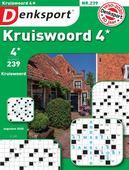 Denksport Kruiswoord 4* July 30, 2020 00:00