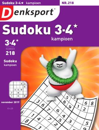 Denksport Sudoku 3-4* kampioen 218