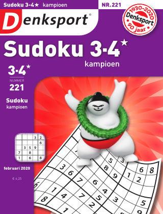 Denksport Sudoku 3-4* kampioen 221