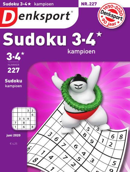 Denksport Sudoku 3-4* kampioen June 04, 2020 00:00