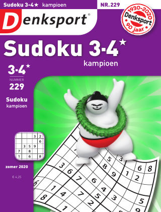 Denksport Sudoku 3-4* kampioen 229