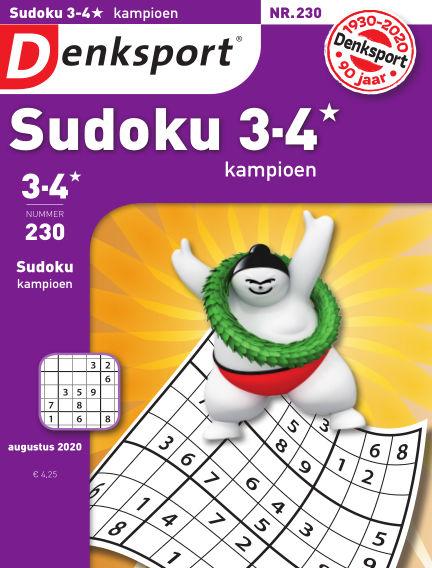 Denksport Sudoku 3-4* kampioen August 06, 2020 00:00