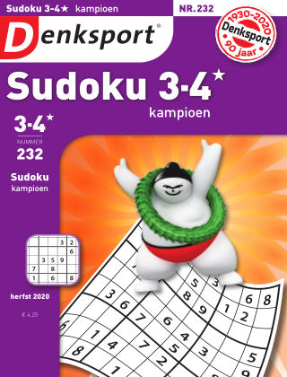 Denksport Sudoku 3-4* kampioen 232