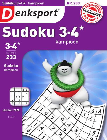 Denksport Sudoku 3-4* kampioen October 08, 2020 00:00