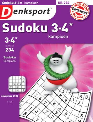 Denksport Sudoku 3-4* kampioen 234