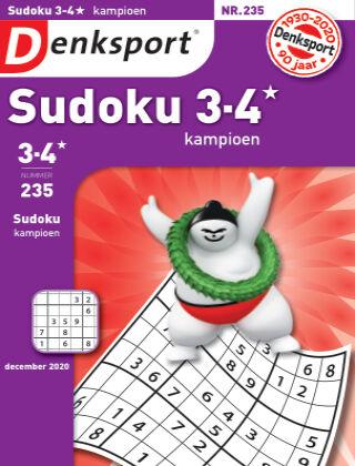 Denksport Sudoku 3-4* kampioen 235