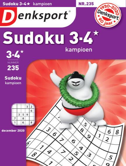 Denksport Sudoku 3-4* kampioen November 19, 2020 00:00