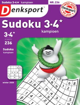 Denksport Sudoku 3-4* kampioen 236