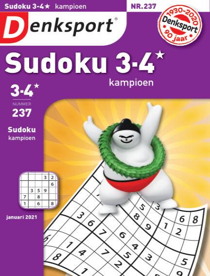 Denksport Sudoku 3-4* kampioen December 31, 2020 00:00