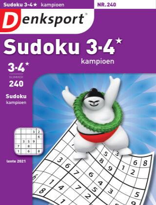 Denksport Sudoku 3-4* kampioen 240