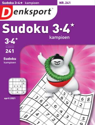 Denksport Sudoku 3-4* kampioen 241