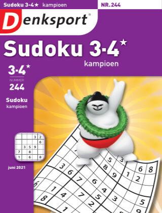 Denksport Sudoku 3-4* kampioen 244