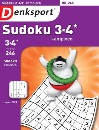 Denksport Sudoku 3-4* kampioen 246