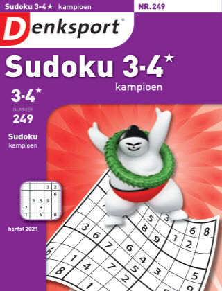 Denksport Sudoku 3-4* kampioen 249